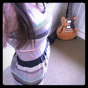 Banana republic striped midi dress, size 0p